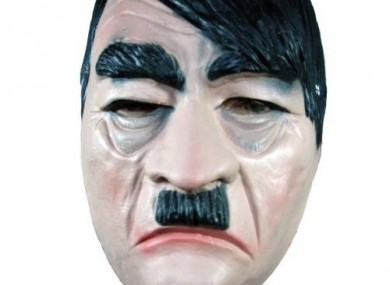 There are just a few Hitler masks for sale online. This is one of them.