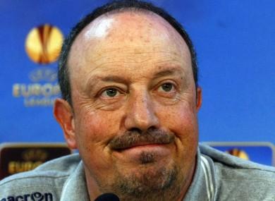 Outgoing Napoli coach Rafael Benitez