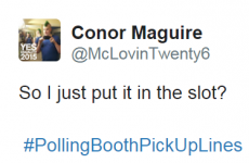 11 completely irresistible #PollingBoothPickUpLines