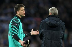 Arsenal 'keeper forced to defuse situation after his father slams Arsene Wenger