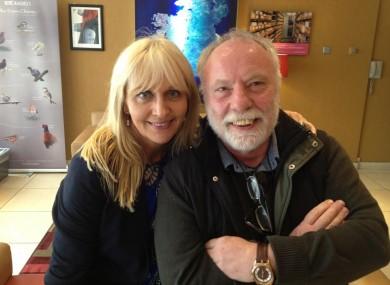 Miriam O'Callaghan with Brian Keenan.