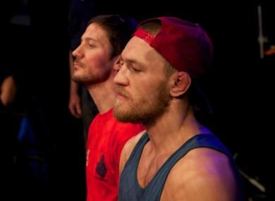 John Kavanagh and Conor McGregor.