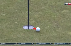 Game of inches! Rickie Fowler came disgustingly close to a hole-in-one on a par-four