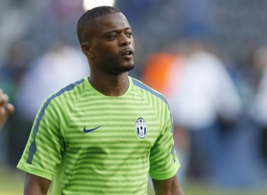 Evra is hoping to win his second Champions League tonight.