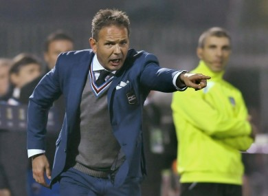 Mihajlovic spent two seasons in charge of Sampdoria.