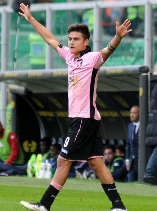 Dybala has scored 13 goals in 34 Serie A appearances for Palermo this season.