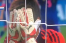 Japan's goalkeeper commits the howler of the year after forgetting she can use her hands