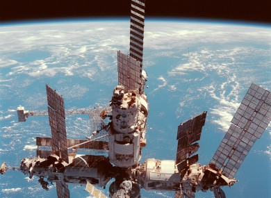 Russia's Mir Space Station, which was in orbit in 2001, had to deal with the issue of space debris when in use.