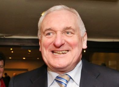 Bertie Ahern pictured last year.