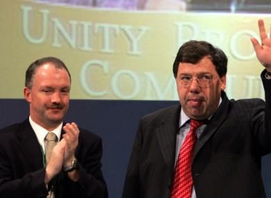 Seán Haughey and former Taoiseach Brian Cowen in 2005