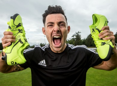 Towell at the launch of Adidas' new ACE and X boots in Dublin yesterday.
