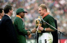 It's 20 years to the day since Mandela presented the Springboks with the Webb Ellis Cup