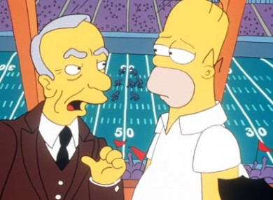 Rupert Murdoch lets Homer know who's in charge in an episode of The Simpsons (on Fox).