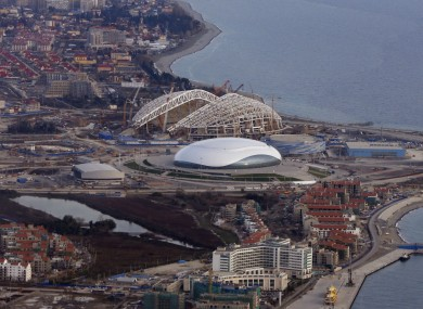 The Sochi Olympic Park for the 2014 Winter Olympics.