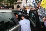Senators abandon cars after protesters shut down street outside Leinster House