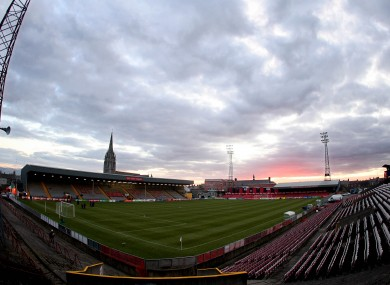 Dalymount Park in Phibsborough.