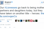 England tried to welcome home their women�s football team, but failed hard