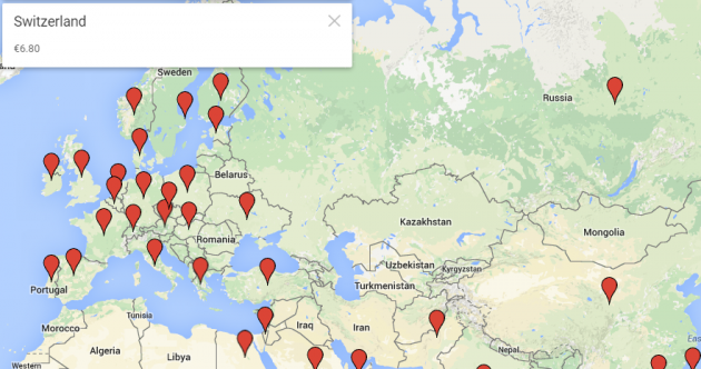 Interactive map: The price of a Big Mac all around the world