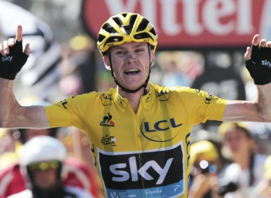 Froome blew the rest of the field away on Tuesday.