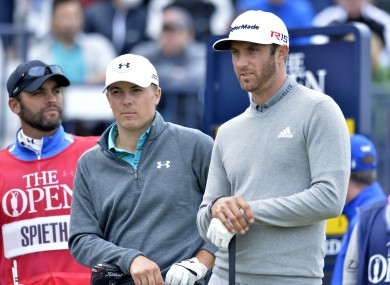 Spieth and Johnson played with each other on Thursday.
