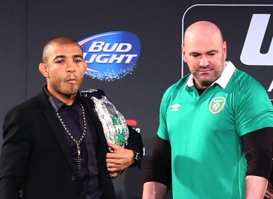 UFC champion Jose Aldo and president Dana White.