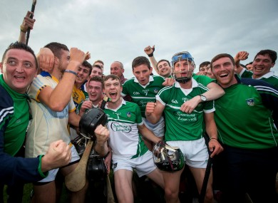 Limerick's players celebrates last night's win.