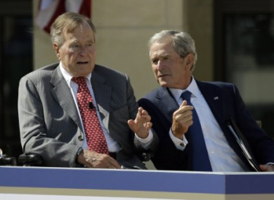George HW Bush with his son George W Bush