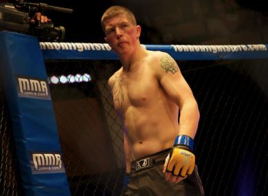 Irish UFC featherweight Paul Redmond.
