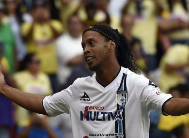 Former Queretaro attacker Ronaldinho has joined Fluminense.