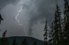 Lightning caused the biggest headache for telly transmissions in 12 years yesterday