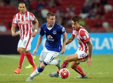 McCarthy was in action against Stoke earlier on Wednesday.