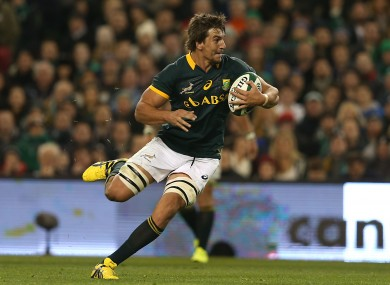 Etzebeth will return to the Stormers in time for the 2016 season.