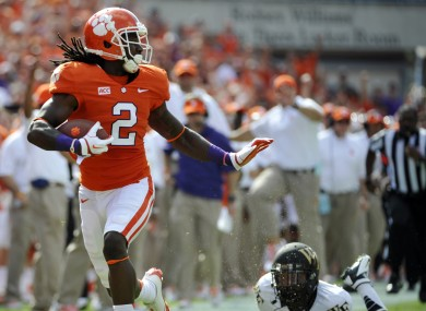 Sammy Watkins played his college football at Clemson.