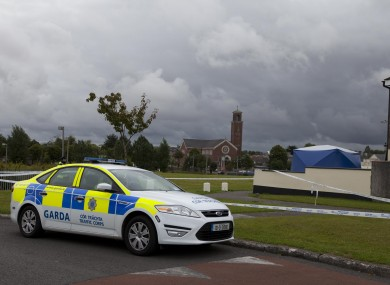 Gardaí at the scene of the shooting last weekend.