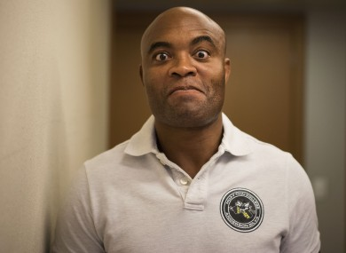 UFC middleweight Anderson Silva.