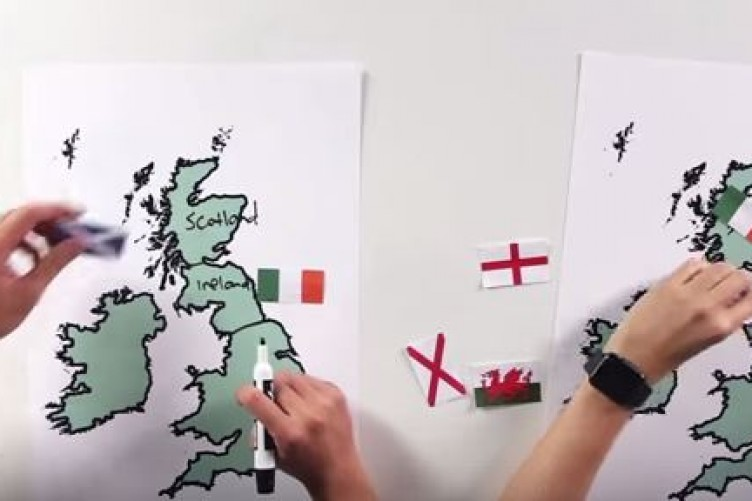 Watch americans try to find ireland on a map and it doesnt go well gumiabroncs Image collections