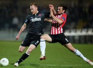 Dundalk visit the Brandywell at 7.45pm.