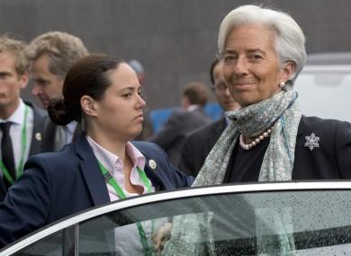 Head of the IMF Christine Lagarde