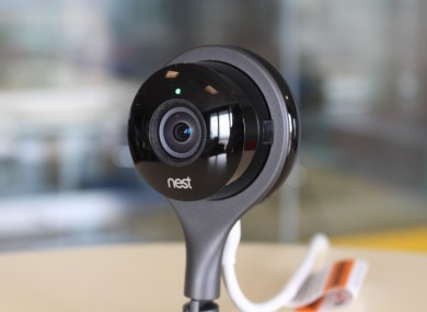The Nest Cam in action.