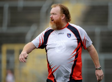 Armagh senior ladies football manager James Daly.