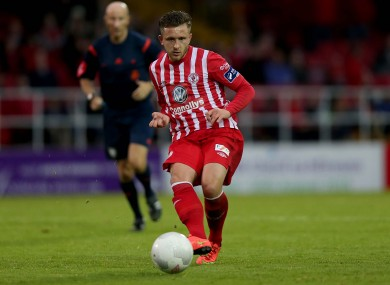 Jason Hughes was on target for Sligo tonight.