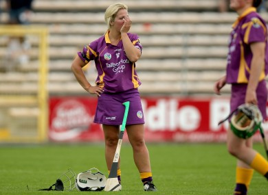 Katriona Parrock of Wexford dejected after last week's game.