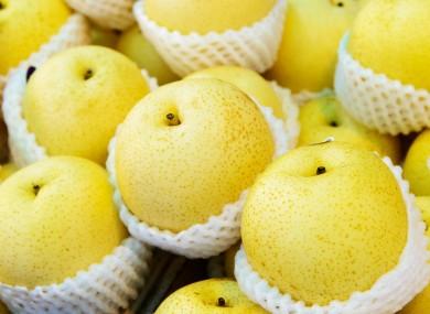 Korean pears.