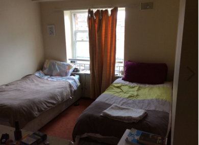 A shared room in Dublin 1 going for €275 per month.