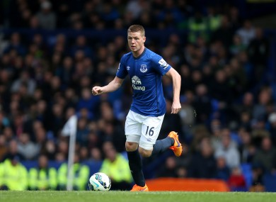 Everton's James McCarthy signed a new contract today.
