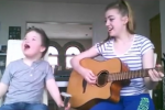 This Irish girl's sweet duet with her little brother is going super viral on Facebook