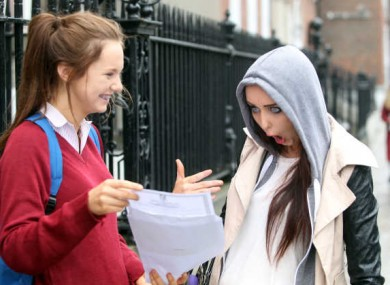 (This is a Junior Cert student, shown here with her sister, but we love this photo too much not to include it.)