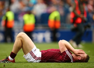 Joe Canning after the final whistle.