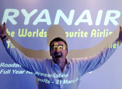 A happy looking Ryanair CEO Michael O'Leary