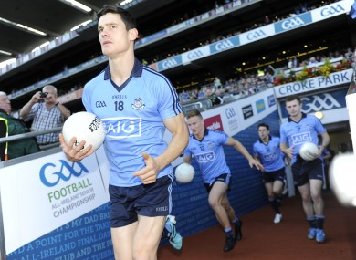 Diarmuid Connolly takes to the pitch last Saturday in Croke Park.